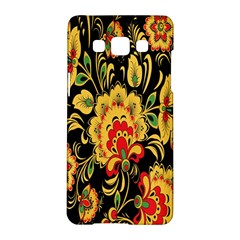 Flower Yellow Green Red Samsung Galaxy A5 Hardshell Case  by AnjaniArt