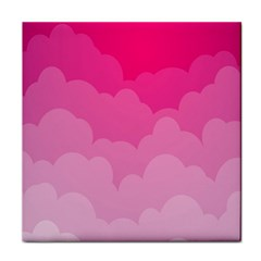 Lines Pink Cloud Face Towel by AnjaniArt