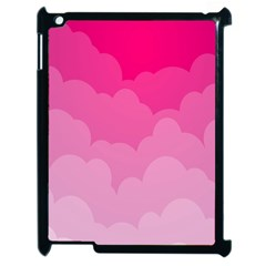 Lines Pink Cloud Apple Ipad 2 Case (black) by AnjaniArt