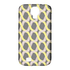 Hearts And Yellow Washi Zigzags Tileable Samsung Galaxy S4 Classic Hardshell Case (pc+silicone) by AnjaniArt