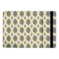 Hearts And Yellow Washi Zigzags Tileable Samsung Galaxy Tab Pro 10 1  Flip Case by AnjaniArt