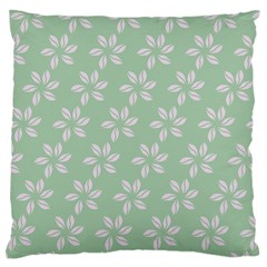 Pink Flowers On Light Green Standard Flano Cushion Case (one Side)