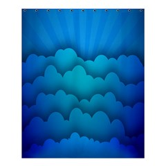 Blue Sky Jpeg Shower Curtain 60  X 72  (medium)  by AnjaniArt