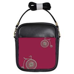 Rose Pink Fushia Girls Sling Bags by AnjaniArt