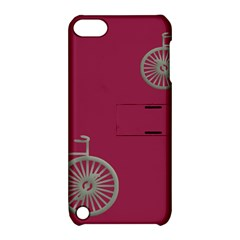 Rose Pink Fushia Apple Ipod Touch 5 Hardshell Case With Stand by AnjaniArt