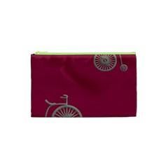 Rose Pink Fushia Cosmetic Bag (xs)