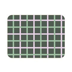 Pink And Green Tiles On Dark Green Double Sided Flano Blanket (mini)  by AnjaniArt