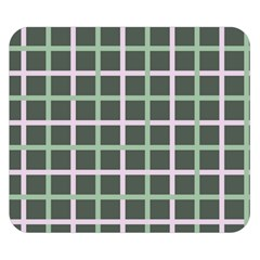 Pink And Green Tiles On Dark Green Double Sided Flano Blanket (small)  by AnjaniArt