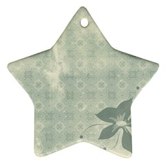 Shadow Flower Gray Ornament (star)  by AnjaniArt