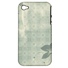 Shadow Flower Gray Apple Iphone 4/4s Hardshell Case (pc+silicone) by AnjaniArt