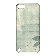 Shadow Flower Gray Apple Ipod Touch 5 Hardshell Case With Stand by AnjaniArt