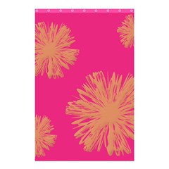 Yellow Flowers On Pink Background Pink Shower Curtain 48  X 72  (small)  by AnjaniArt