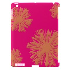 Yellow Flowers On Pink Background Pink Apple Ipad 3/4 Hardshell Case (compatible With Smart Cover) by AnjaniArt