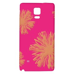 Yellow Flowers On Pink Background Pink Galaxy Note 4 Back Case by AnjaniArt