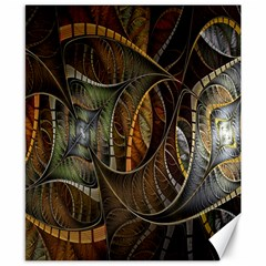 Mosaics Stained Glass Canvas 8  X 10  by AnjaniArt
