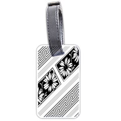 Stripe Seamless Flower Luggage Tags (one Side)  by AnjaniArt