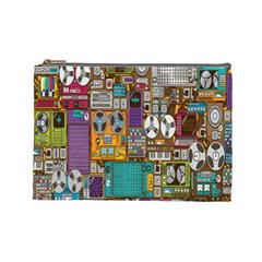 Rol The Film Strip Cosmetic Bag (large)  by AnjaniArt