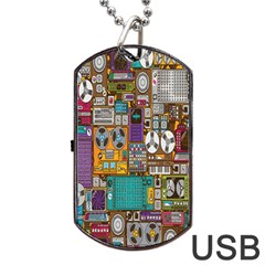 Rol The Film Strip Dog Tag Usb Flash (two Sides)  by AnjaniArt