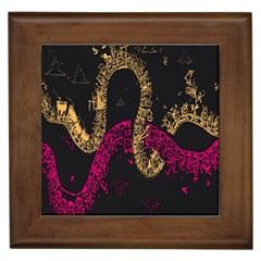 Abstraction Pink Orange Black Framed Tiles by Jojostore