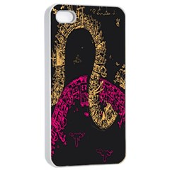 Abstraction Pink Orange Black Apple Iphone 4/4s Seamless Case (white) by Jojostore