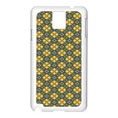 Arabesque Flower Yellow Samsung Galaxy Note 3 N9005 Case (white) by Jojostore