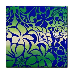 Batik Fabric Flower Tile Coasters by Jojostore