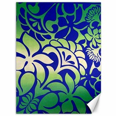 Batik Fabric Flower Canvas 36  X 48   by Jojostore