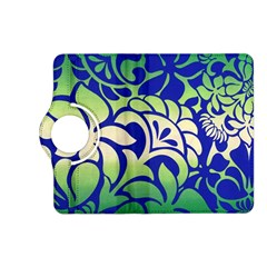 Batik Fabric Flower Kindle Fire Hd (2013) Flip 360 Case by Jojostore