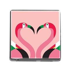 Bird Flamingo Illustration Love Memory Card Reader (square) by Jojostore
