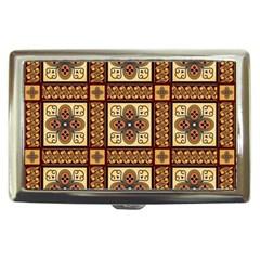 Batik Flower Brown Cigarette Money Cases by Jojostore