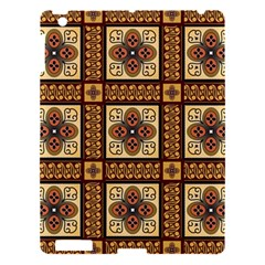 Batik Flower Brown Apple Ipad 3/4 Hardshell Case by Jojostore