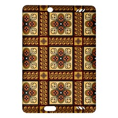 Batik Flower Brown Amazon Kindle Fire Hd (2013) Hardshell Case by Jojostore