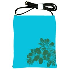 Blue Flower Shoulder Sling Bags by Jojostore