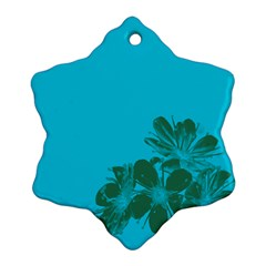 Blue Flower Ornament (Snowflake)  by Jojostore