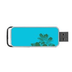Blue Flower Portable Usb Flash (two Sides) by Jojostore