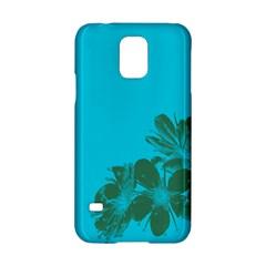 Blue Flower Samsung Galaxy S5 Hardshell Case  by Jojostore