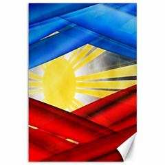 Blue Red Yellow Colors Canvas 12  X 18   by Jojostore