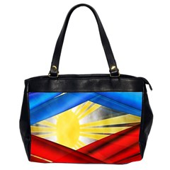 Blue Red Yellow Colors Office Handbags (2 Sides)  by Jojostore