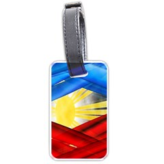 Blue Red Yellow Colors Luggage Tags (two Sides) by Jojostore