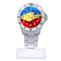 Blue Red Yellow Colors Plastic Nurses Watch by Jojostore