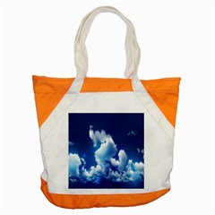 Blue Sky Clouds Accent Tote Bag by Jojostore