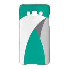 Chevron Green Gray White Samsung Galaxy A5 Hardshell Case
