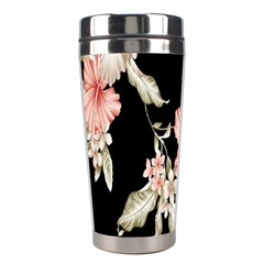 Buds Petals Dark Flower Pink Stainless Steel Travel Tumblers