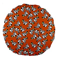 Cat Hat Orange Large 18  Premium Round Cushions by Jojostore