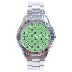 Christmas Penguin Green Stainless Steel Analogue Watch by Jojostore