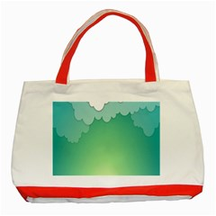 Clouds Classic Tote Bag (red) by Jojostore