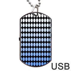 Cricle Blue White Dog Tag Usb Flash (two Sides)  by Jojostore