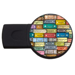 Colored Suitcases Usb Flash Drive Round (4 Gb)  by Jojostore
