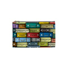 Colored Suitcases Cosmetic Bag (small)  by Jojostore