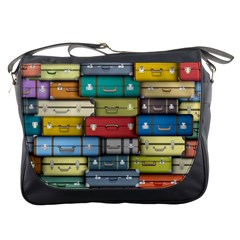 Colored Suitcases Messenger Bags by Jojostore